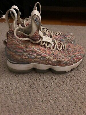 online retailer baf18 6ae41 NIKE LEBRON 15 Fruity Pebbles Size 5