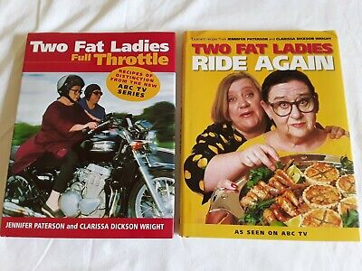 2 TWO FAT LADIES COOK BOOKS Bulk Lot!