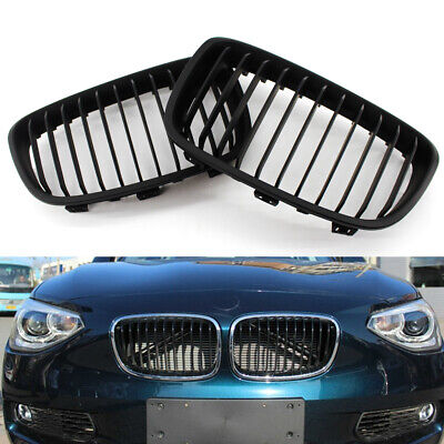 Car Front Matte Black Grill fit for BMW F20 11-14 13 12 2014 Car Easy to Install