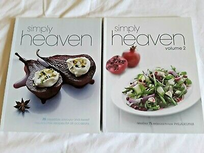 2 SIMPLY HEAVEN COOK BOOKS Bulk Lot!