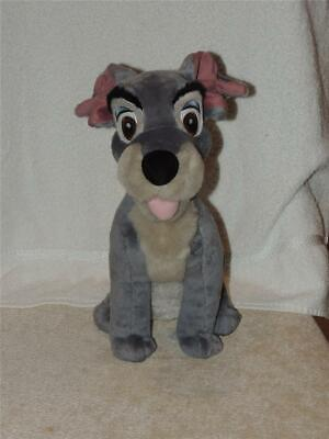 Disney Store Exclusive LADY & THE TRAMP PUPPY DOG GRAY PLUSH STUFFED 13""