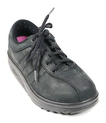 c9e1b4455463 MBT Super Feet Womens Size 9 Black Casual Leather Walking Shoes Trainers