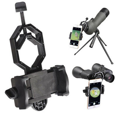 Telescope Spotting Scope Microscope Mount Holder for Phone Camera Adapter fd g