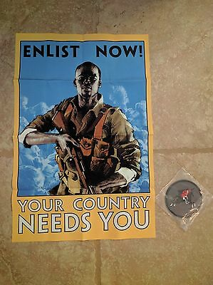 """Battlefield 1 Collector's Edition """"Enlist Now!"""" Cloth Poster + Cavalry Patch NEW"""