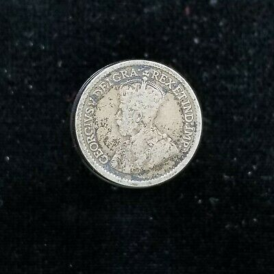 Canada Silver Small 5 Cents 1919 King George V