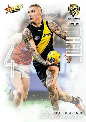 2019 Afl Select Footy Stars Richmond Tigers Common Team Set All 12 Cards