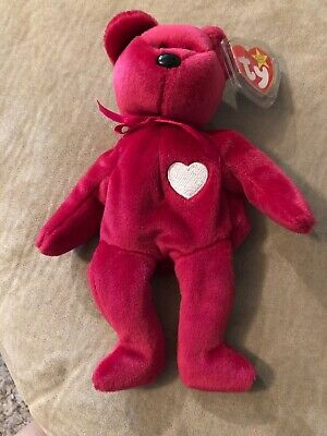076c6bce6965ea VALENTINA PINK BEAR TY Beanie Baby Collectible 1999 Retired ORIGINAL ...