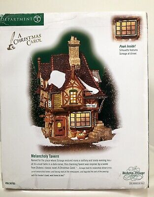 Department 56 Dickens Village A Christmas Carol Melancholy Tavern #58703 Retired