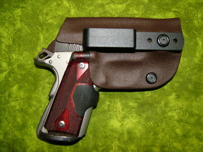Look!!! Super Nice Left Iwb Chocolate Brown Kydex Holster Hand Made Fitted
