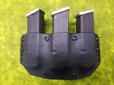 Look! Super Nice Left Regular Black Kydex Triple Mag Holster Truly Hand Fitted