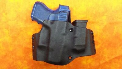 Look!!! Super Nice Left Black Kydex Holster With Built In Mag Truly Hand Fitted