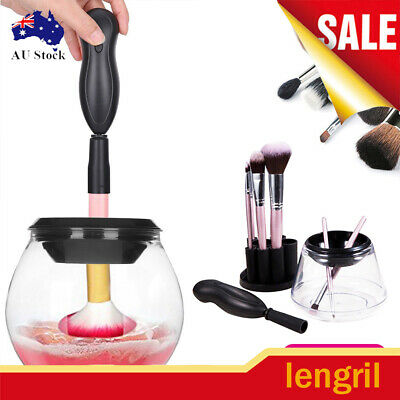 Electric Cosmetic Makeup Wash Brushes Brush Cleaner Dryer Washing Tool AU STOCK