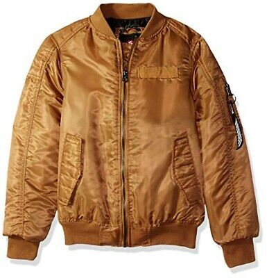 Southpole Caramel Brown Bomber Jacket Outerwear Boy's US Size 10-12