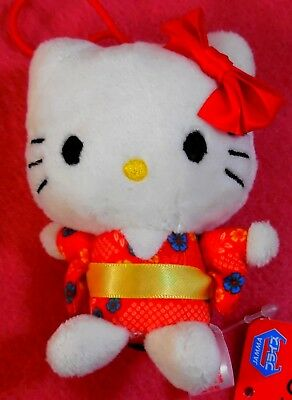 Hello Kitty Sanrio Plush Doll Mascot mini pyoconoru Vivid Color Japan Free Ship
