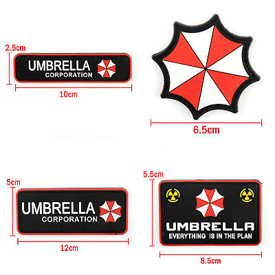 Resident Evil Umbrella Corporation 3D Pvc Army Morale Chest Rubber Hook Patch S