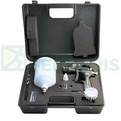 Spray gun Walcom Slim HTE kombat 1.3 airbrush Walmec in magnesium and kevlar kit