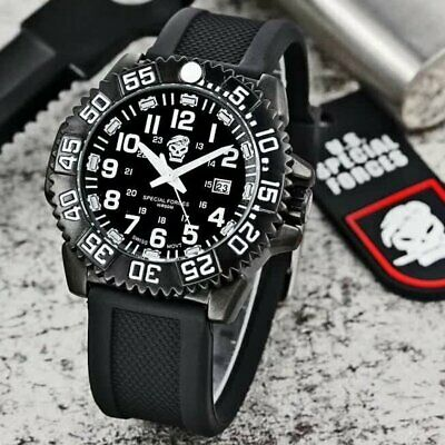 Tactical Military Dive Divers 50m Waterproof Watch Tempered Crystal Glass Watch