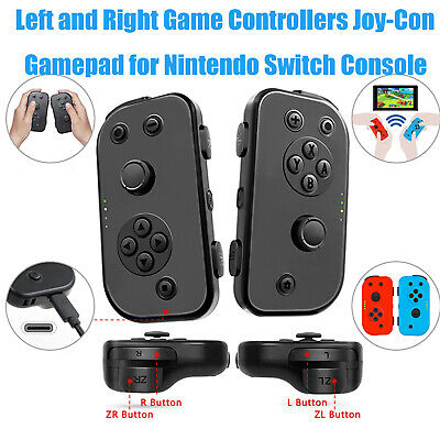 L R Wireless Game Controllers Joy-Con Joypad Gamepad For Nintendo Switch Console