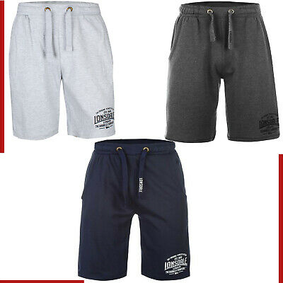 Mens Lonsdale Sports Shorts Trouser Boxing Gym Casual Fleece Summer Half Pants