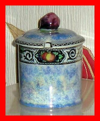 Maling Pottery Jam Or Preserve Pot With Lid In The Lucerne Pattern Lid Restored