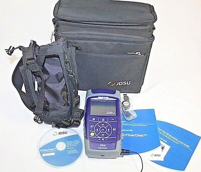 JDSU HD4i Video Display with Cases and AC adapter JDS Uniphase Fiber Optics Test