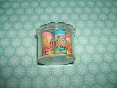 Rare Vintage 1980s Cased Ribbon Green Hills Girl Cooking erasers rubbers gommes
