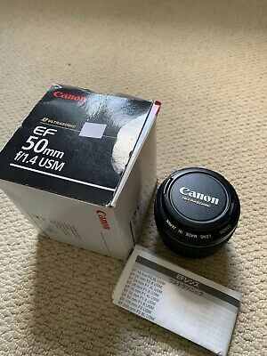 Canon EF 50 mm F/1.4 EF USM for Canon - Black Excellent Condition boxed