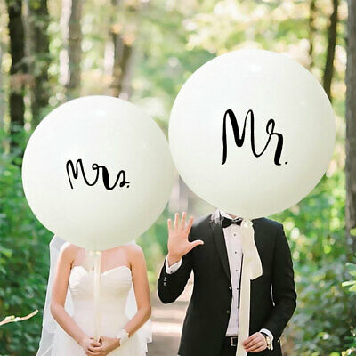 36 inch Round Printing Letters Mr and Mrs Latex Balloons Wedding Event Supplies