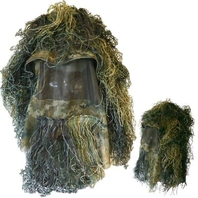 Mens Ghillie Hat Concealment Army Sniper Face Veil Disguise Tactical Airsoft