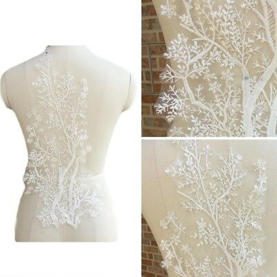 Lace Applique Trim Embroidery Sewing Motif Tulle DIY Wedding Bridal Crafts Super