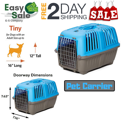 Ess Pet Carrier For Dogs Cats for Home Or Traveling Carrying Handle 19 Inch Hard