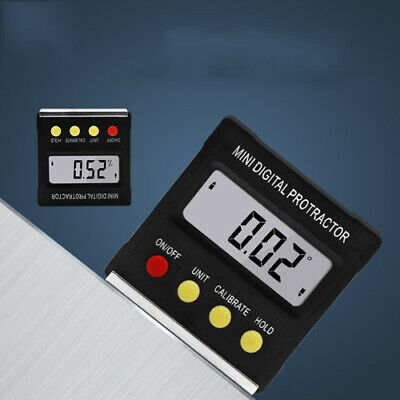 Meter Bevel 0-360° Level Box Inclinometer Magnetic LCD Cube Angle Protractor