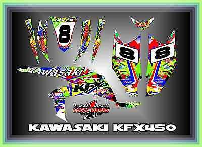 KAWASAKI KFX 450R SEMI CUSTOM GRAPHICS KIT Mayhem