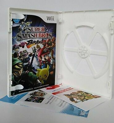 Super Smash Bros. Brawl (Nintendo Wii, 2008) Case And Manual Only