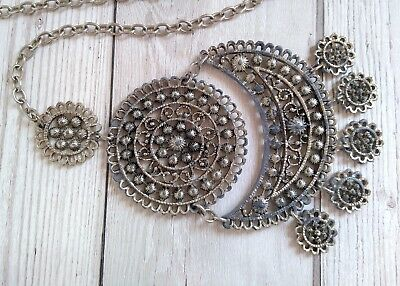 Vintage Boho Unusual Heavy Metal Chain Style Belt - Ethnic or Indian Style