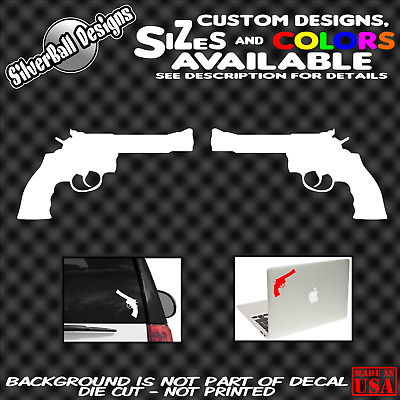 Skull Pistol Shield Perforated Vinyl Decal Rear Window Car See thru BB807