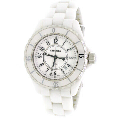 0e4f145d24 CHANEL J12 33MM Automatic White Ceramic Women's Watch - EUR 2.079,65 |  PicClick IT