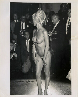 Bunny Yeager Estate Gelatin Silver Photograph 1962 Artist's Ball Sultry Stripper