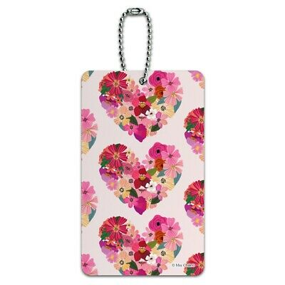 Love Flower Hearts Luggage Card Suitcase Carry-On ID Tag