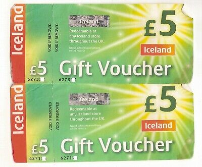 Iceland £10.00 Gift Vouchers valid indefinitely in the UK - as good as cash!