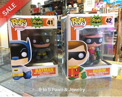 Funko Pop 1966 BATMAN #41 & ROBIN #42 LOT - Free Shipping #9to5pawn #9to5kidult