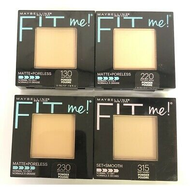 Mixed 4 Pack Maybelline Matte Fit Me Pressed Powder Compact Beige + Honey