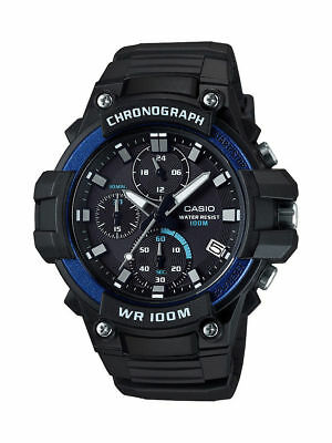 Casio MCW110H-2AV, Chronograph, Black Resin Watch, 100 Meter WR, Date