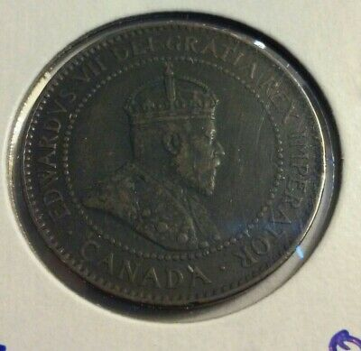 1904  Canada One Cent Coin - KM#8   (#IN4130)