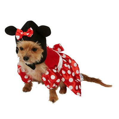 Pet Dog Cat Minnie Mouse Costume  Rubies Disney Character Fancy Dress Outfit M