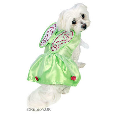 Pet Cat Dog Tinkerbell Costume Rubies Disney Fairy Fancy Dress Outfit M