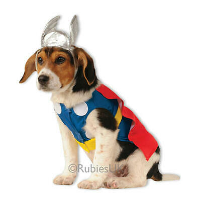 Pet Dog Thor Costume Rubies Fancy Dress Avengers Outfit Superhero M