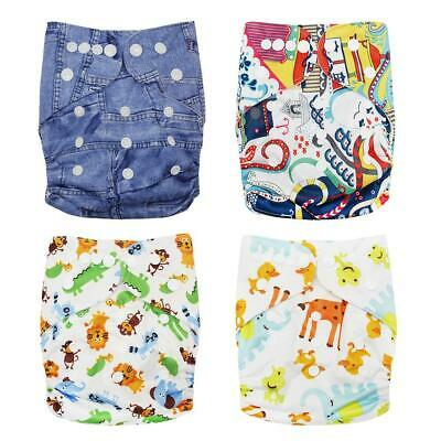 Baby Cartoon Washable Reusable Nappy Cover Waterproof Soft Breathable Diapers