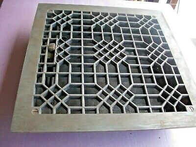 "Heat Air Grate Wall Register 12"" x 12"" Wall Opening - VINTAGE-Works! 14x14 OA"