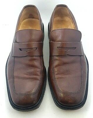 8357ba79c6d Coach Italy Mens Slip-On Brown Leather Mackenzie Penny Loafer Dress Shoe -  8.5 D